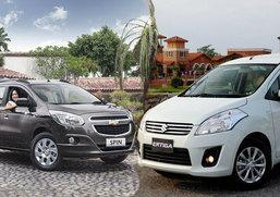 เปรียบมวย  MPV  เมื่อศึก 7 นั่ง ไซส์เล็กระอุ Chevrolet Spin VS. Suzuki Ertiga