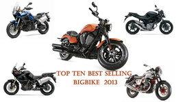 10 อันดับ บิ๊กไบค์ขายดีที่สุดปี 2013