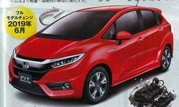 หลุด 2019 Honda Jazz ใหม่ มาพร้อมเครื่องยนต์ 1.0 ลิตรเทอร์โบ!