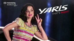เบื้องหลังการถ่ายทำโฆษณา Toyota Yaris ที่ Katy Perry เป็นพรีเซ็นเตอร์