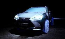 'Lexus' ผุดไอเดียจับเอสยูวีหรู 'NX' ใส่ล้อที่ทำมาจาก 'น้ำแข็ง' แถมวิ่งได้จริง...!