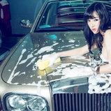 พริตตี้จีนล้างรถ
