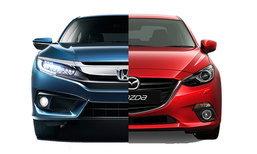 เทียบสเป็ค Honda Civic Turbo RS และ Mazda 3 SP Sports รุ่นท็อปทั้งคู่-อ็อพชั่นใครเหนือกว่า