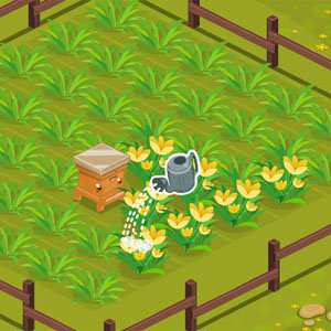 เกมส์ปลูกดอกไม้เก็บน้ำผึ้ง