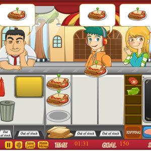 เกมส์ทำอาหาร เกมส์เสตลล่าขายแซนวิช