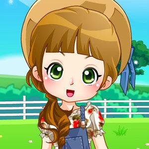 เกมส์แต่งตัว เกมส์แต่งตัวสาวน้อยในฟาร์ม