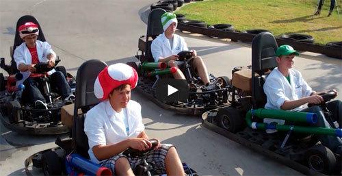 คลิปการแข่ง Mario Kart เวอร์ชั่นคนจริง 7