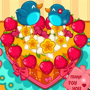 เกมส์ทำเค้ก cute heart cake