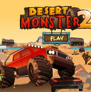 เกมส์รถแข่ง desert monster2