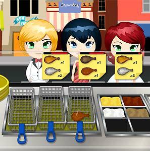 เกมส์ทำเค้ก chicken food cart
