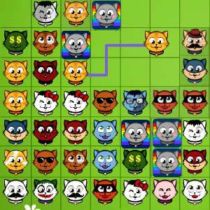 เกมส์เรียงเพชร เกมส์จับคู่แมวเหมียว