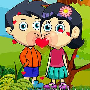 เกมส์จับคู่ เกมส์แจ็คและเจนนี่ขโมยจูบ