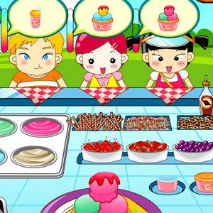 เกมส์เสิร์ฟอาหาร เกมส์ขายไอศกรีมให้เด็กๆ