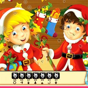 เกมส์จับคู่ เกมส์ช่วยลุงซานต้าหาของ