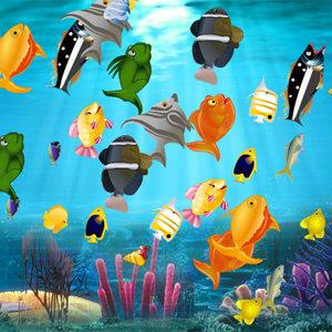 เกมส์จับคู่ เกมส์จับคู่ปลา