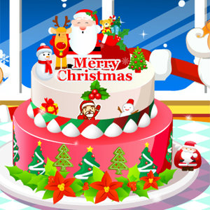 เกมส์เสิร์ฟอาหาร เกมส์ทำเค้กคริสมาสต์