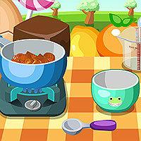 เกมส์ทำอาหาร เกมส์ทำพุดดิ้งท้อฟฟี่