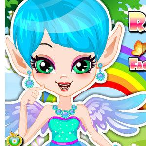เกมส์แต่งตัวเกมส์แต่งหน้า Rainbow Fairy Facial Makeover