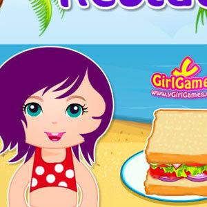 เà¸à¸¡à¸ªà¹Œà¸—ำอาหารเกมส์ขายอาหาร ริมชายหาด