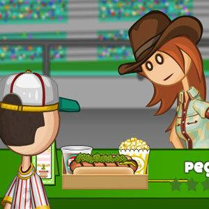 เกมส์ทำอาหาร เกมส์เสิร์ฟอาหาร Papas Hotdoggeria