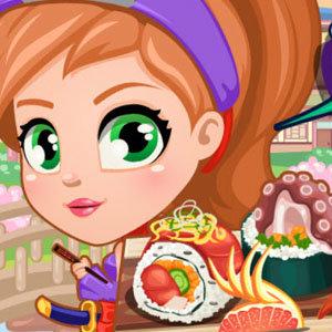 เกมส์เสิร์ฟอาหาร เกมส์นินจาสาวทำชูชิ
