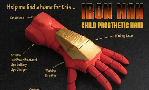 มือ Iron Man ของเล่นหลอกเด็กสุดเจ๋ง