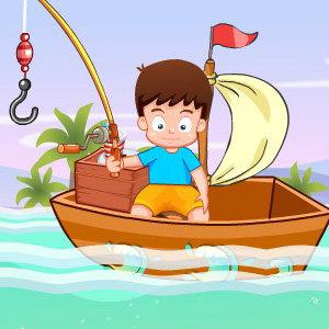 เกมส์เด็กน้อยตกปลาวันหยุด