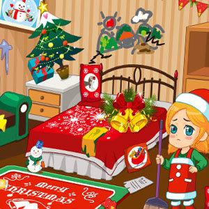 เกมส์แต่งบ้าน เกมส์ทำความสะอาดวันคริสมาสต์
