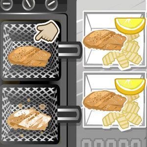 เกมส์เสิร์ฟอาหาร เกมส์ทำสเต็กปลา