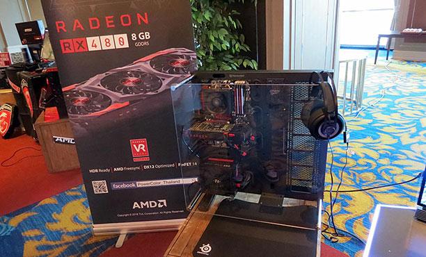 AMD เปิดตัว Radeon RX 480 เป็นทางการในไทย ท้าเหล่าเกมเมอร์พิสูจน์สมรรถนะ