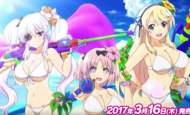 อนิเมชั่นเปิดตัวเกม Senran Kagura: Peach Beach Splash ฉบับอิ่มอกอิ่มใจ