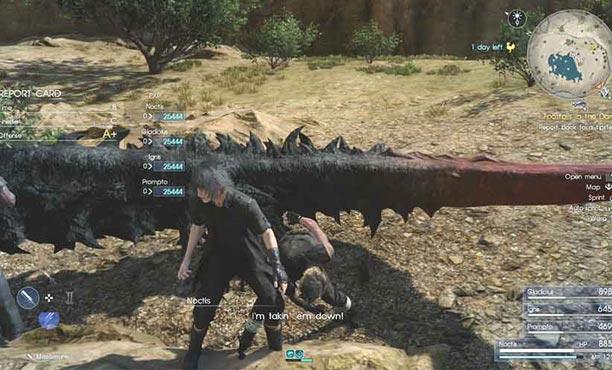 Final Fantasy XV เทคนิคการเก็บเลเวลให้พุ่งกระฉูด ไวกว่าปกติ