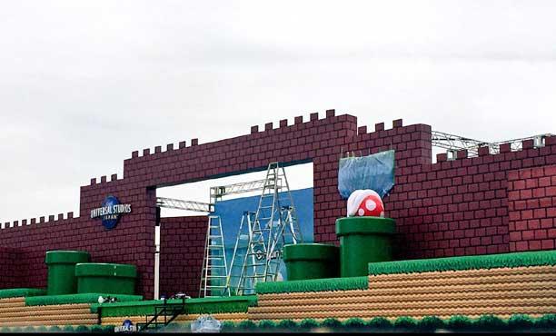 เริ่มสร้างแล้ว! สวนสนุก Nintendo Land ที่ Universal Studios โอซาก้า