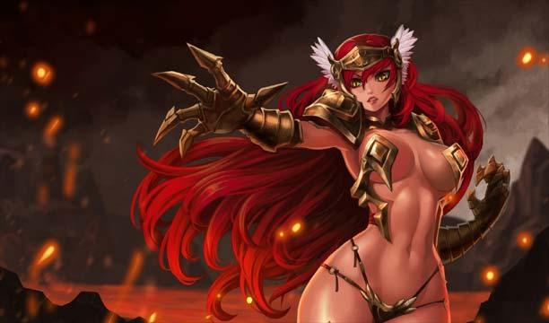 ตัวอย่างการสร้างตัวละครสุดเซ็กซี่ในเกม League of Maidens