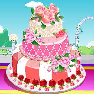 เกมส์ทำเค้ก เกมส์ทำเค้กดอกกุหลาบ