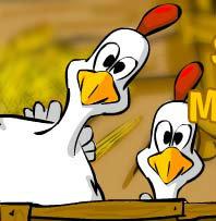 เกมส์อาเขต Binki. On the chicken farm