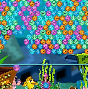 เกมส์ยิงลูกบอล เกมส์ยิงฟองอากาศปล่อยสัตว์ทะเล