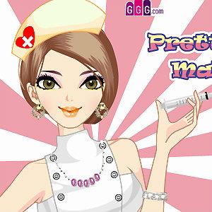 เกมส์แต่งหน้า เกมส์แต่งตัวพยาบาลสาวแสนสวย