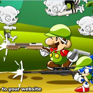 เกมมาริโอ้ mario&sonic zombie killer
