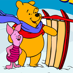 Pooh's Snowy Day Race