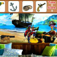 เกมส์หาของ pirate-room