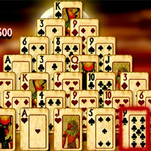 เกมส์ไพ่ pyramid solitaire mummys curse