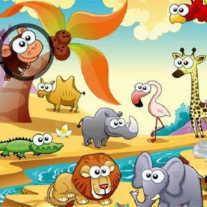 เกมส์ เกมส์หาเลขในสวนสัตว์