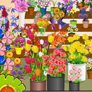 เกมส์หาของ เกมส์หาของในร้านดอกไม้