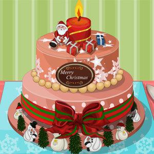 เกมส์ทำเค้ก เกมส์ตกแต่งเค้กคริสมาสต์