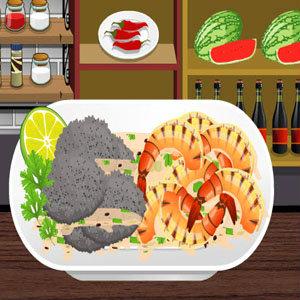เกมส์ทำอาหาร เกมส์ทำกุ้งย่างผักชีมะนาว
