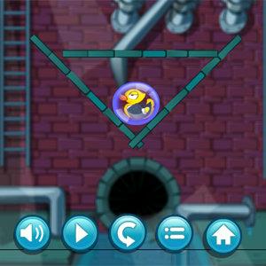 เกมส์ฝึกสมอง เกมส์ช่วยเป็ดเหลืองให้พ้นจากหินถล่ม