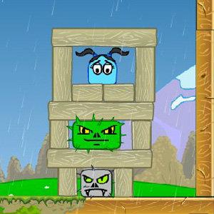 เกมส์ฝึกสมอง เกมส์ปกป้องเยลลี่สีฟ้า