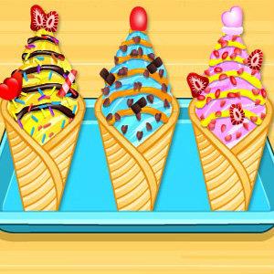 เกมส์ทำอาหาร เกมส์ทำคัพเค้กไอศกรีม