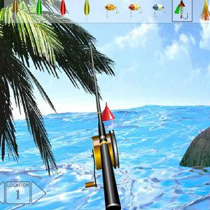 เกมส์ตกปลา เกมส์ตกปลากลางทะเลสาบ